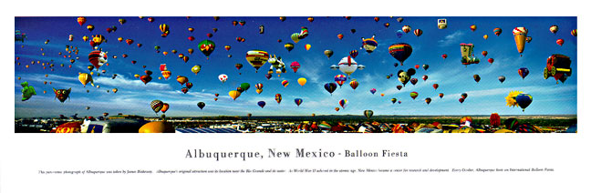 Albuquerque New Mexico Skyline Panoramic Photograph